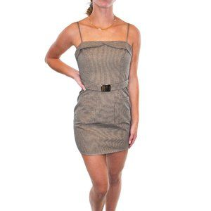 ETIQUETTE Checked Mini Sheath Dress #AS6